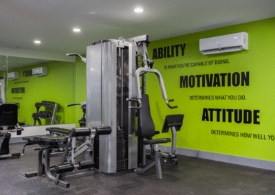 Fitness station with modern fitness equipments