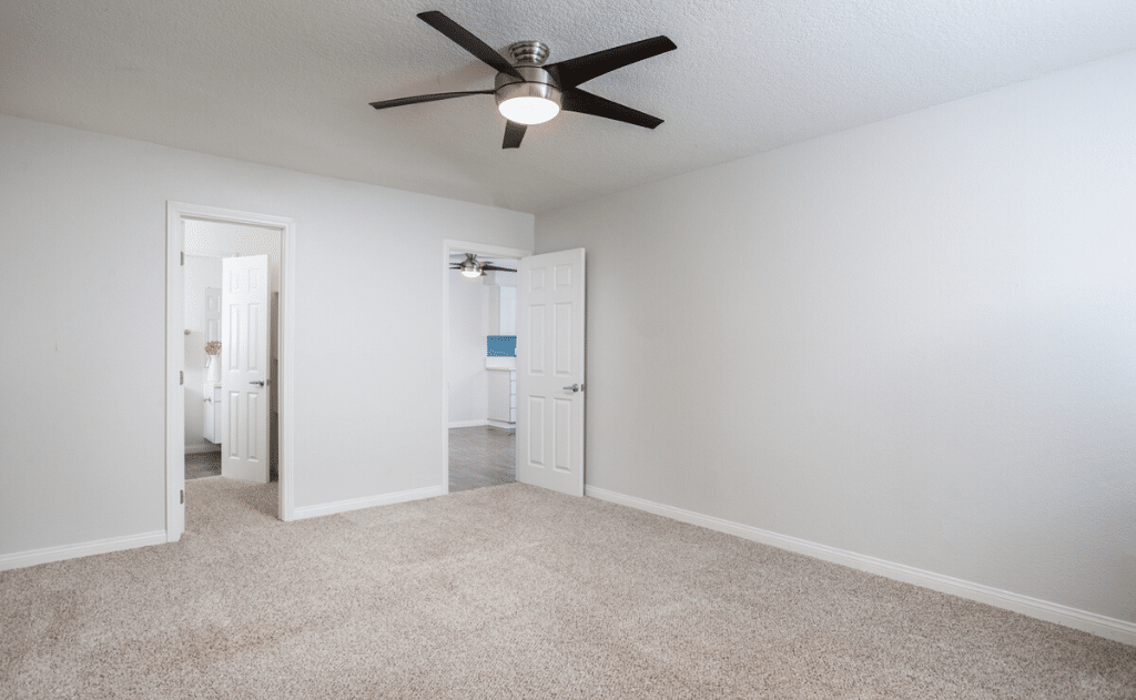 Ceiling fans in every bedroom